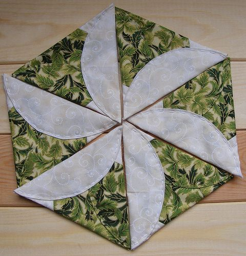 Japanese Folded Patchwork Triangles | Flickr - Photo Sharing!