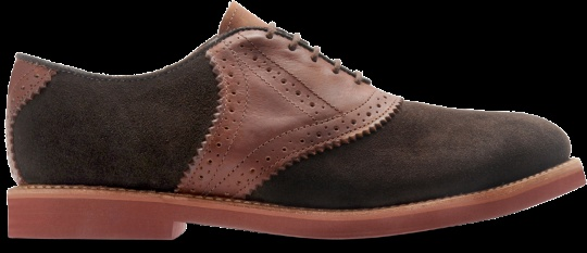 Walkover Mens Saddle in Chocolate Suede/Russet Saddle