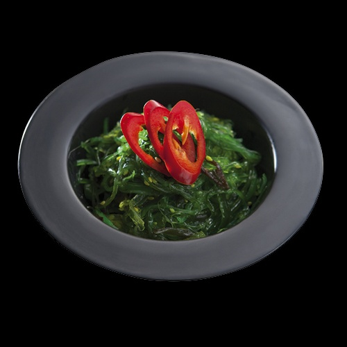 Goma Wakame, czyli sałatka z glonów i makaronu sojowego, w sosie sezamowy/Goma Wakame - salad,  pasta with algae and soy sesame sauce.