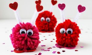 Pom Pom Valentine Monsters are a quick and easy valentine for kids to make.
