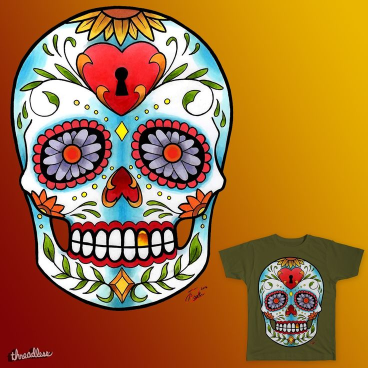 First Traditional Skull Design hand drawn by me, Johnny Darko