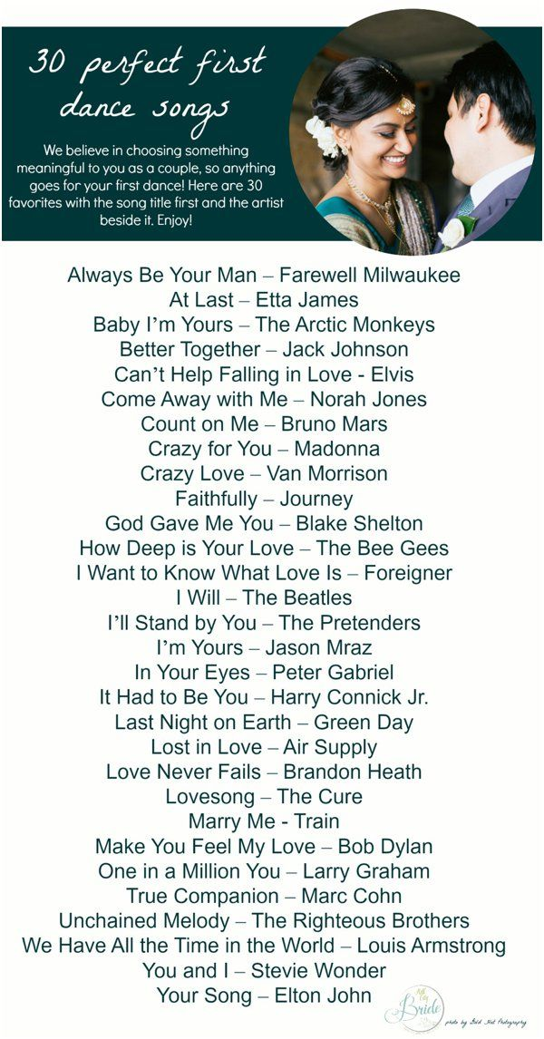 30 First Dance Song Ideas | Wedding Song Playlists | Pinterest ...