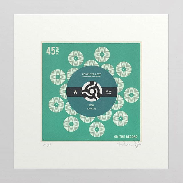 Her Screen Print From Anthony Peters On The Record Is An Ongoing Series Of 7 Record Style Prints Representing Classic Fi Screen Printing Prints Computer Love