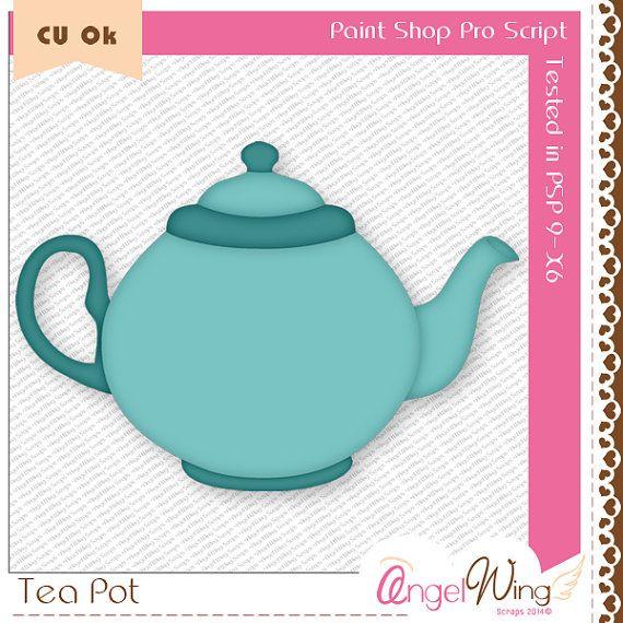 Tea Pot PSP Script by AngelWingScraps on Etsy, $2.99