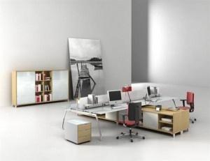 Office WorkspaceGroup Work Desks Computer Set Adirondack Chair Swivel Motion Wrought Iron Brown Jordan Bookshelves Picture C