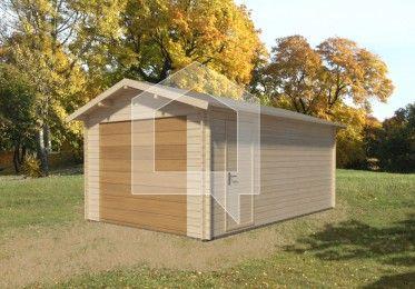Wygodne drzwi wejściowe i przestrzenne pomieszczenie garażu, w którym zmieści się komplet nieużywanych opon czy sprzęt wędkarski.