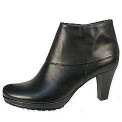 Tamaris - Black Heeled fold over collar boot