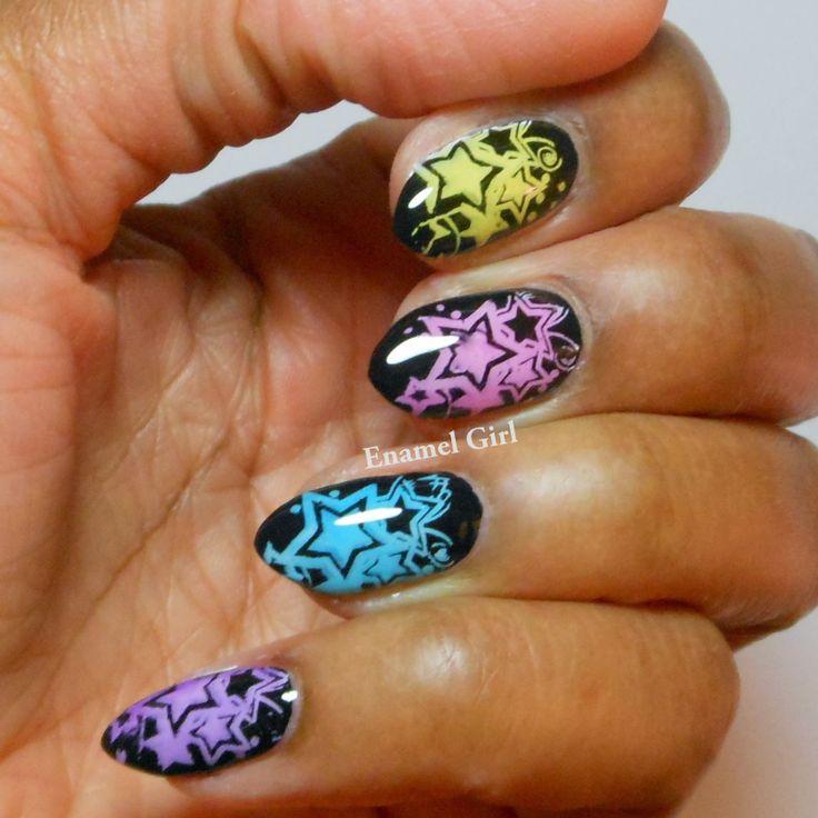 NOTD OPI Sheer Tints Nail Stamping Design - Enamel Girl