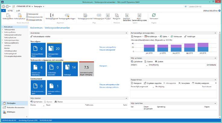 Microsoft Dynamics NAV 2015 screenshot (Dutch) http://www.christiaens.net/nl/microsoft-dynamics ...