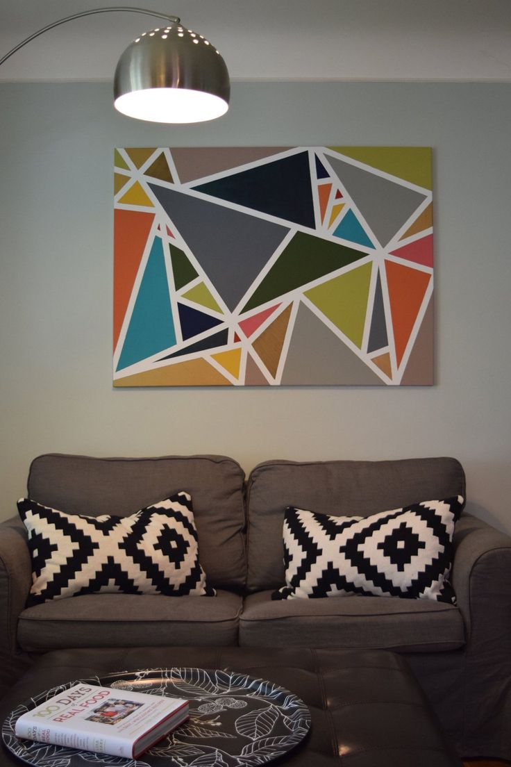 Jenny & Jim's Appreciation of Art // LOVE the lamp and the art!