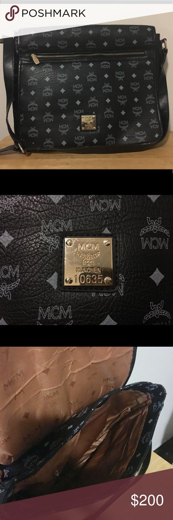 MCM Bag MCM Bag in good condition.  The bag is dark blue, NOT black as it appears in the picture. MCM Bags Crossbody Bags