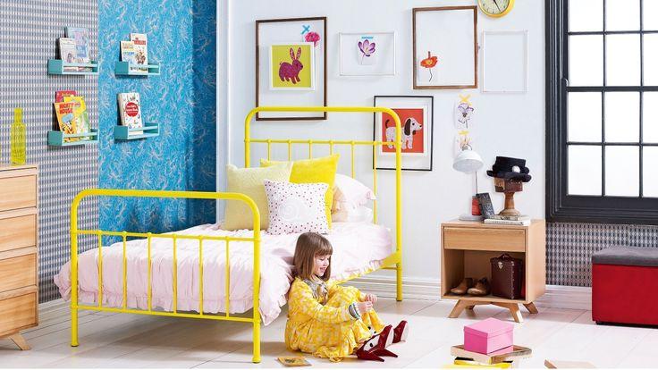 Home :: Bedroom :: Kids Bedroom :: Kids Beds :: Sunday Kids Bed Frame - Sunshine Yellow