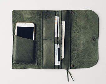 El buscavidas envolver cartera con manga teléfono / / marrón