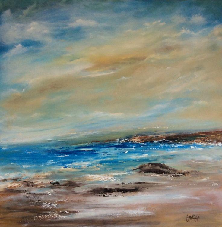 Seascape in Oil 80x80 cms canvas Lynne Bishop