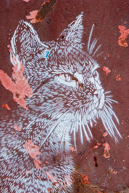 street art cats by christian guemy: use strokes as guides for creating an embroidery?