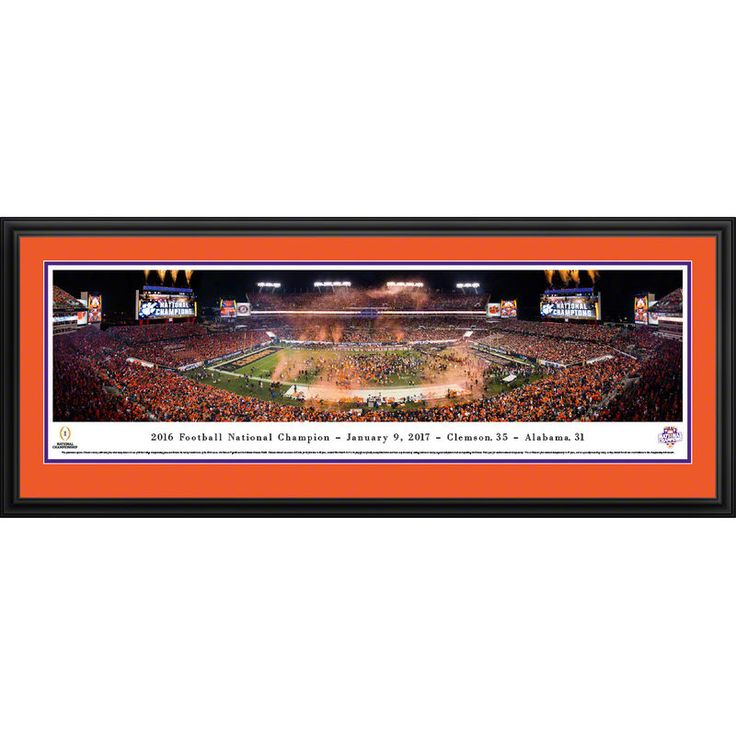 Clemson Tigers College Football Playoff 2016 National Champions Deluxe Framed Panoramic