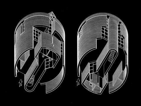 Casa Rotonda/ The round house. Stabio, Ticino, Switzerland.1980-1982. Mario Botta