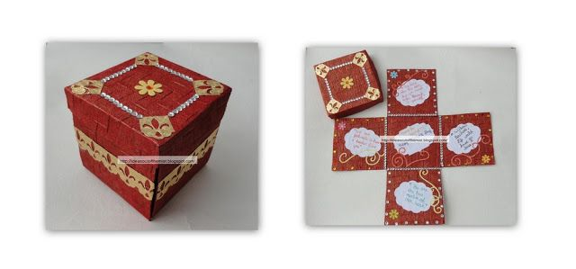 What a lovely handmade teachers day card in the shape of a box with tutorial !