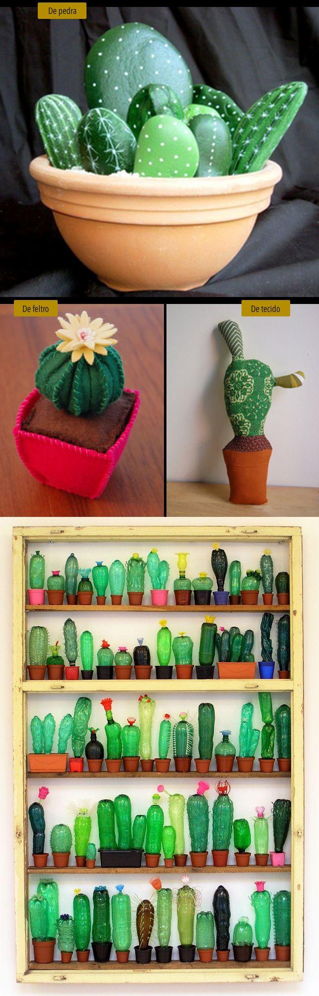 161 best cactus images on pinterest succulents prickly pear cactos de pedra feltro tecido e garrafas pet painted rock cactuseasy fandeluxe Image collections