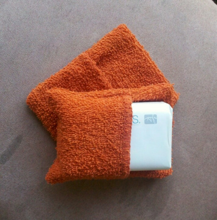 Washcloth Soap Pouch Great Recipes Pinterest Sewing