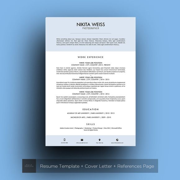 250 best Resume Templates images on Pinterest Resume templates - professional resume fonts