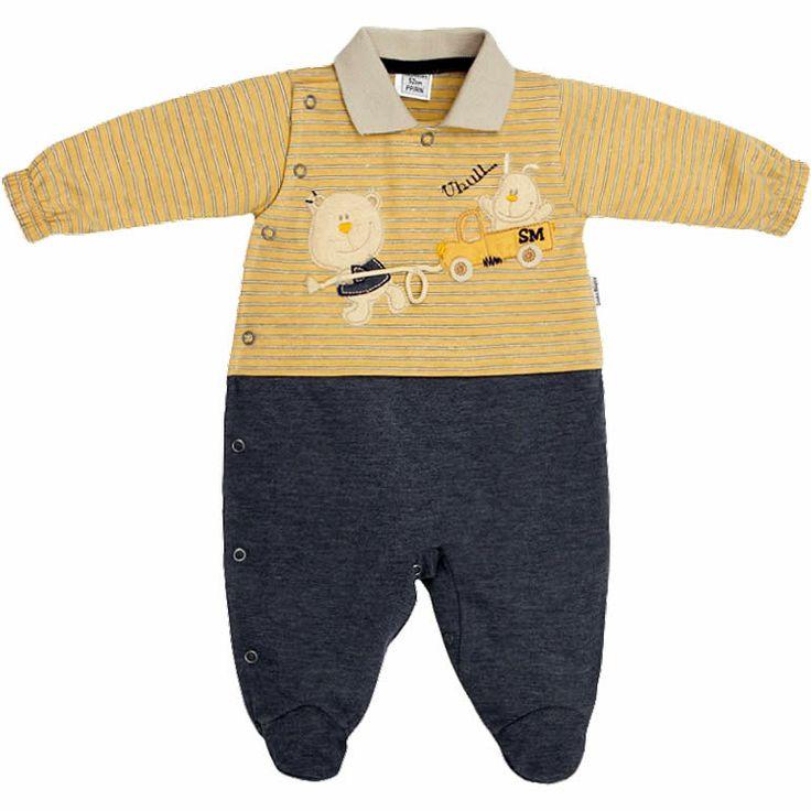 Macacão Bebê Menino Meia Estação - Sonho Mágico :: 764 Kids | Roupa bebê e infantil