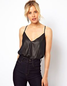 NEW ASOS Woven Body With Skinny Straps And Drape Back UK14 EU42 US10 RRP £25