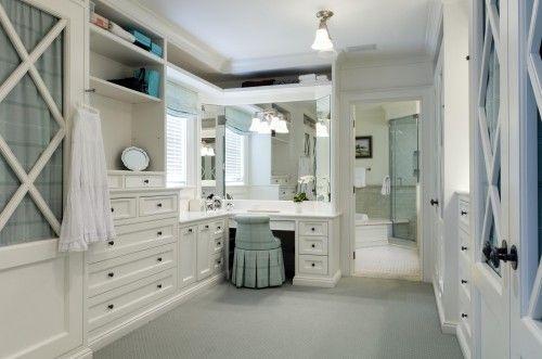 make up area in the closetIdeas, Vanities Area, Master Closets, Closets Design, Dresses Area, Interiors Design, Dresses Room, Closets Spaces, Dreams Closets