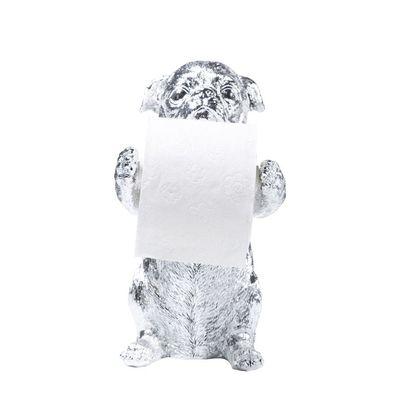 Pug toilet roll holder chrome