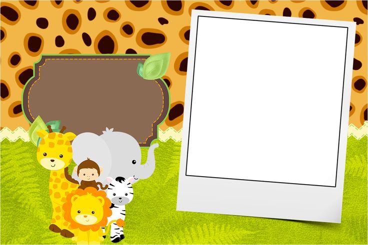Convite com Foto Safari
