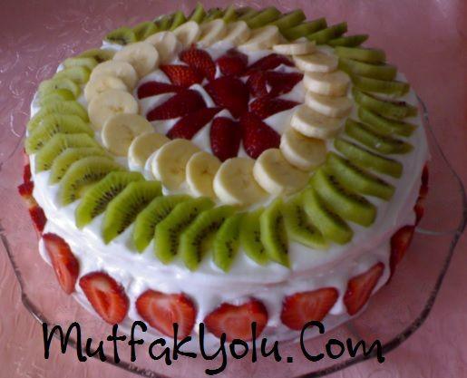 ev yapımı meyveli doğum günü pastası