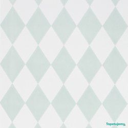 Tapeta Ferm LIVING Harlequin Dusty Green Mint - 149 - Romby Miętowe