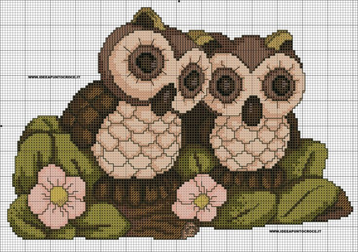 cross stitch *<3* schema gufi thun