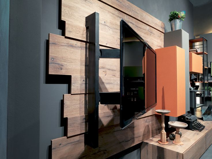 Rebel System - wall unit with tv rack
