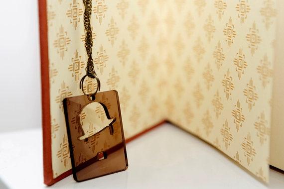 Necklace Charlin Chaplin Plexiglass by PasBijoux on Etsy, €7.99