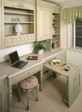 home office sewing room arrangement custom wood products cabinetry cwp