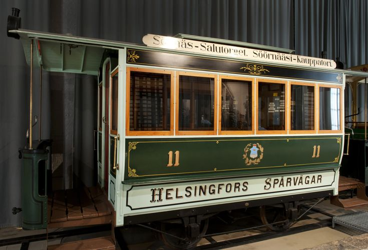 At the Tram Museum, you can take a seat in an old tram that instantly transports you to the Helsinki of yesteryear.