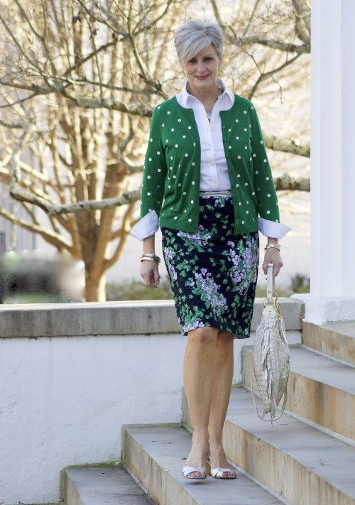florals and polka dots | styleatacertainage @talbots
