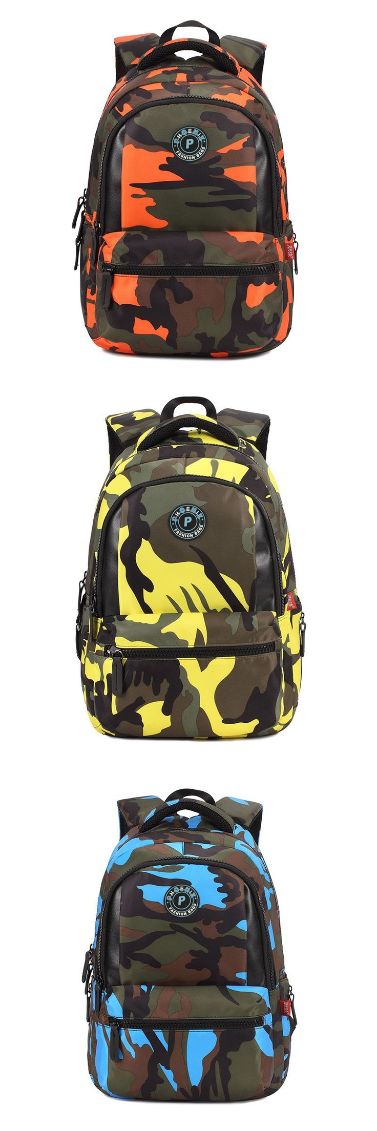 Primary students backpack, child school bags camo, kids school satchel, teen boys girls school backpack, book bag shoulder bag