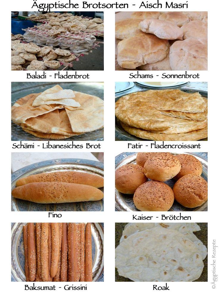 Ägyptische Brotsorten im Überblick Baladi Fladenbrot Schams