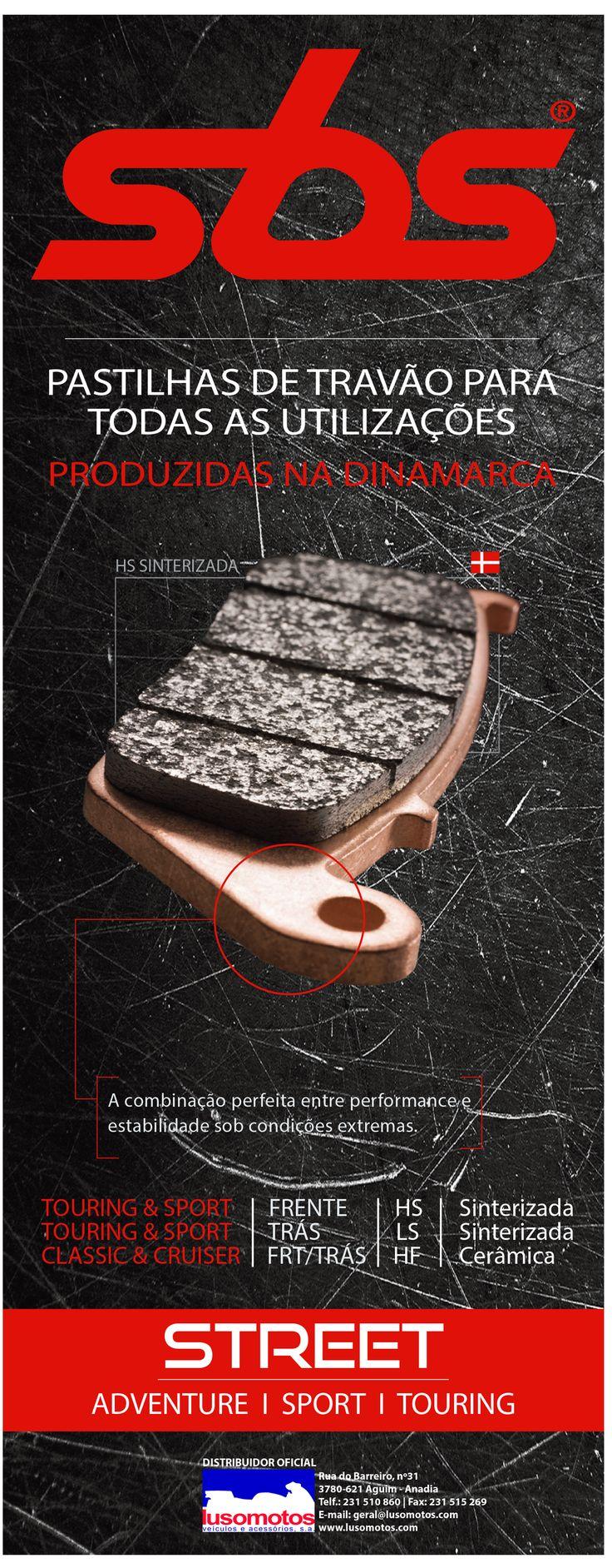 SBS | Pastilhas de Travão para todas as utilizações produzidas na Dinamarca Já escolheu as suas? Fale connosco! #lusomotos #sbs #dinamarca #pastilhasdetravão