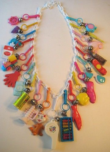 VINTAGE 80's CHARM NECKLACE. I had one of these!