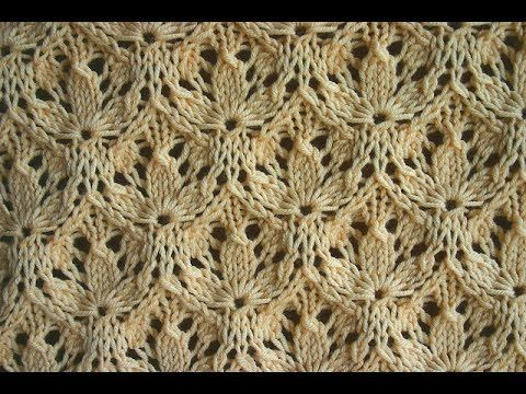 Вязание спицами. Узор - Трилистник ( shamrock pattern) - YouTube