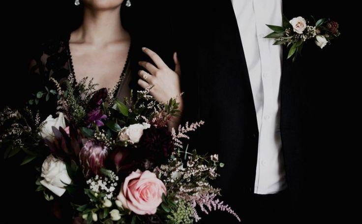 & # 39; Dark Romance & # 39; – Atemberaubende, stimmungsvolle Hochzeitsinspiration – Chic Vintage Bride …   – Wedding