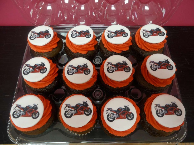 Motorcycle Cupcakes Www Bakedinmoore Com Cakes Cupcakes