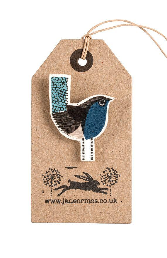 Bird brooch by Jane Ormes van janeormes op Etsy