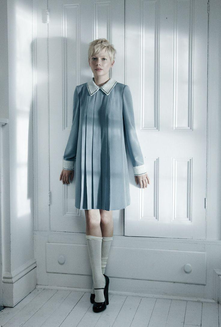 shortFashion, Style, Shorts Hair, Peter Pan Collars, Knee Socks, Michellewilliams, Michelle Williams, The Dresses, Michele Williams