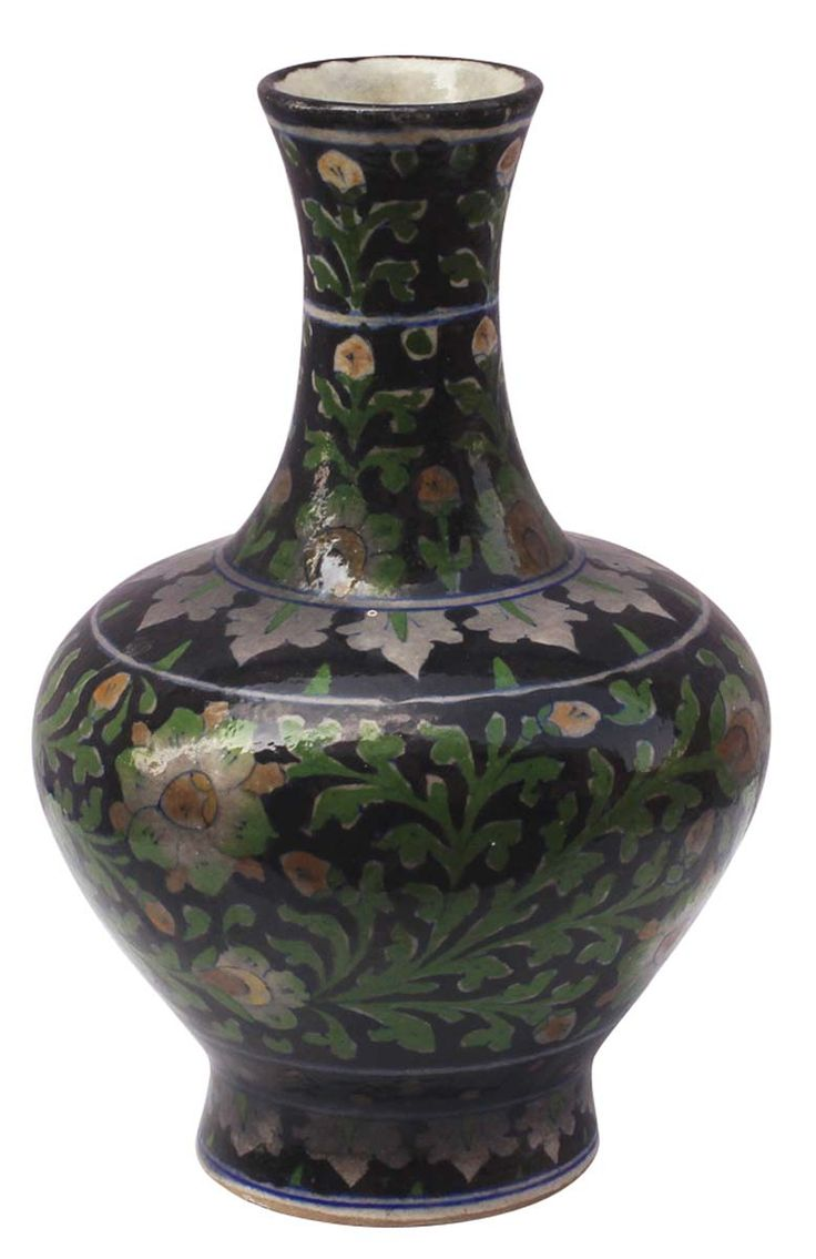 embossing hand vase vases painted olive ceramic wholesale flower in with at pot bulk elegant green
