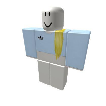 Light Blue Adidas Shirt w/ Blonde Hair - ROBLOX
