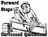 Forward Steps Inspiring Cartooned Quotes